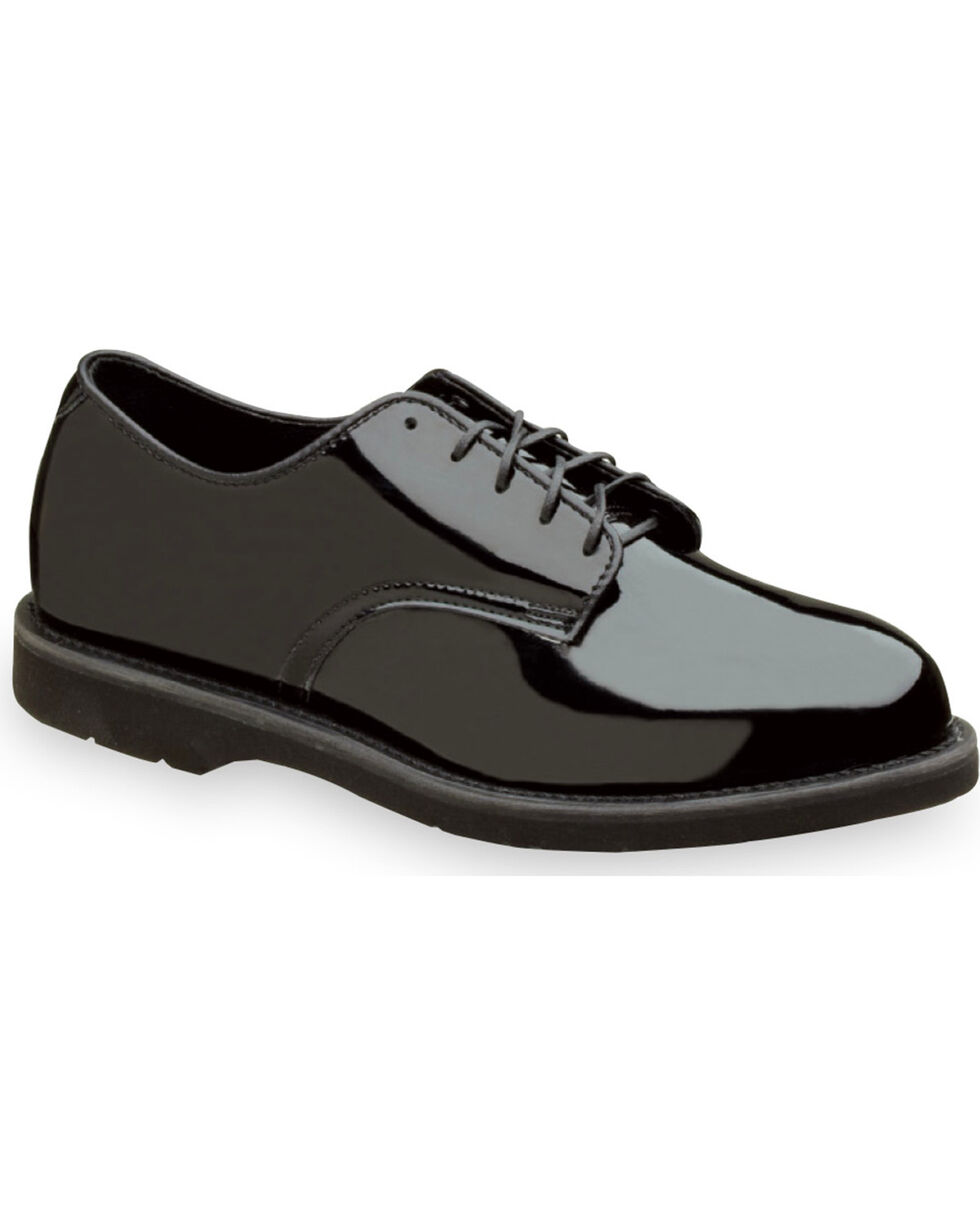 Thorogood Men's Uniform Classics Poromeric Oxfords, Black, hi-res