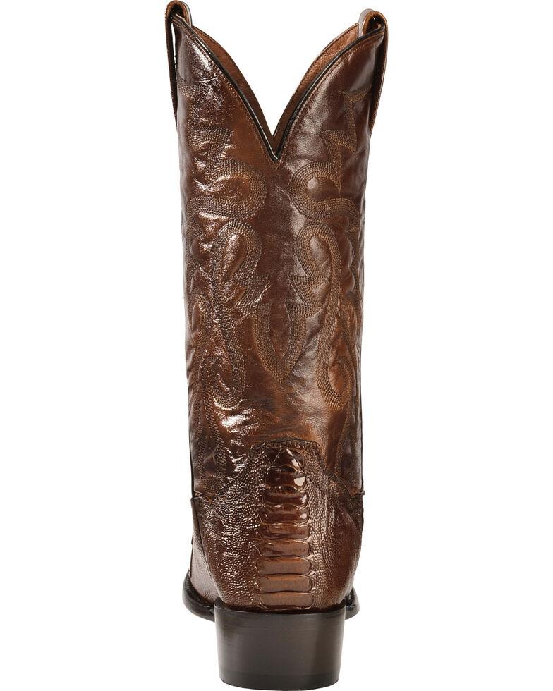 Dan Post Men's Bellevue Ostrich Leg Exotic Boots, Antique Tan, hi-res