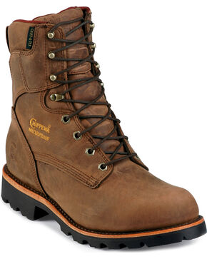Chippewa Men's Waterproof Insulated Utility Work Boots, Bay Apache, hi-res