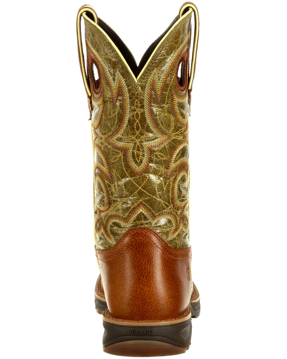 Durango Women's Ultra-Lite Western Boots - Square Toe, Chocolate, hi-res