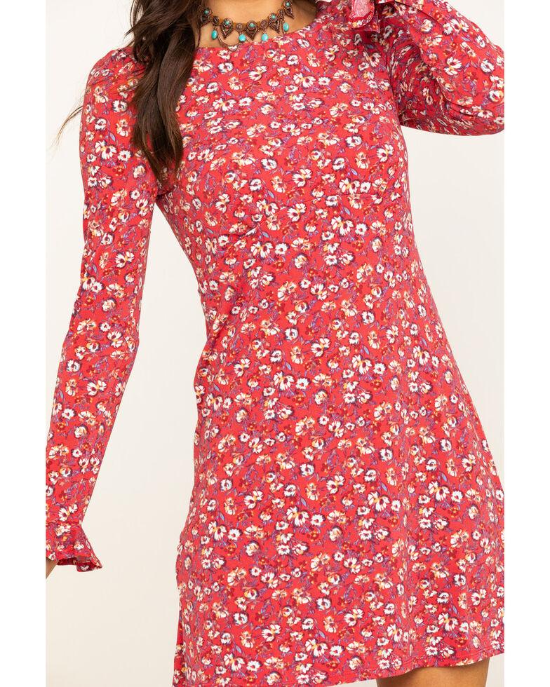 Free People Women's Say Hello Mini Dress, Red, hi-res