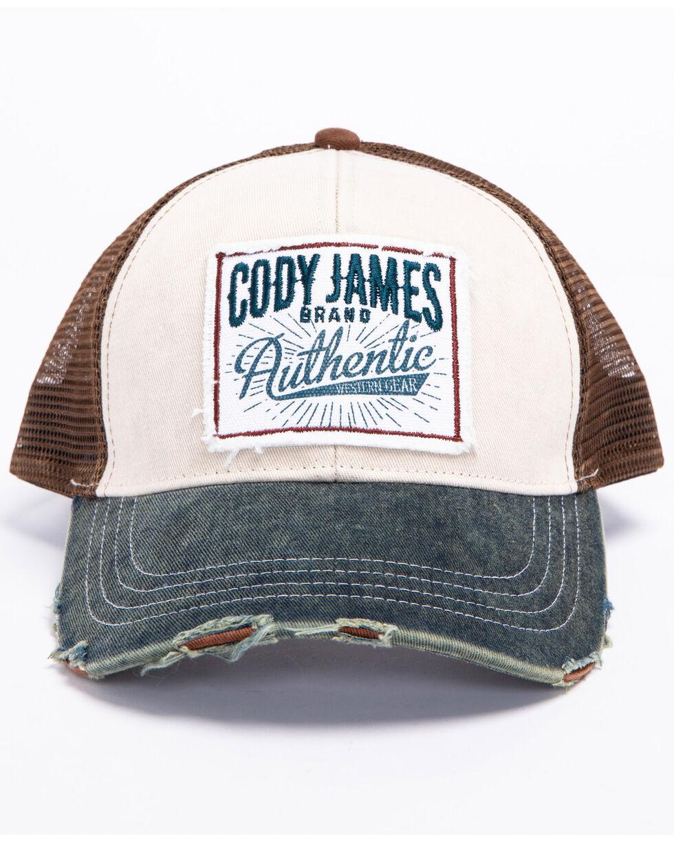 Cody James Men's Retro Patch Trucker Cap, Ivory, hi-res