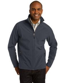 Port Authority Men's Battleship Grey Tall Core Soft Shell Jacket, Grey, hi-res