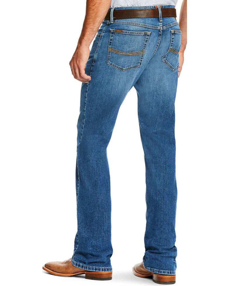 Ariat Men's M2 Brandon Medium Wash Jeans - Boot Cut, Blue, hi-res