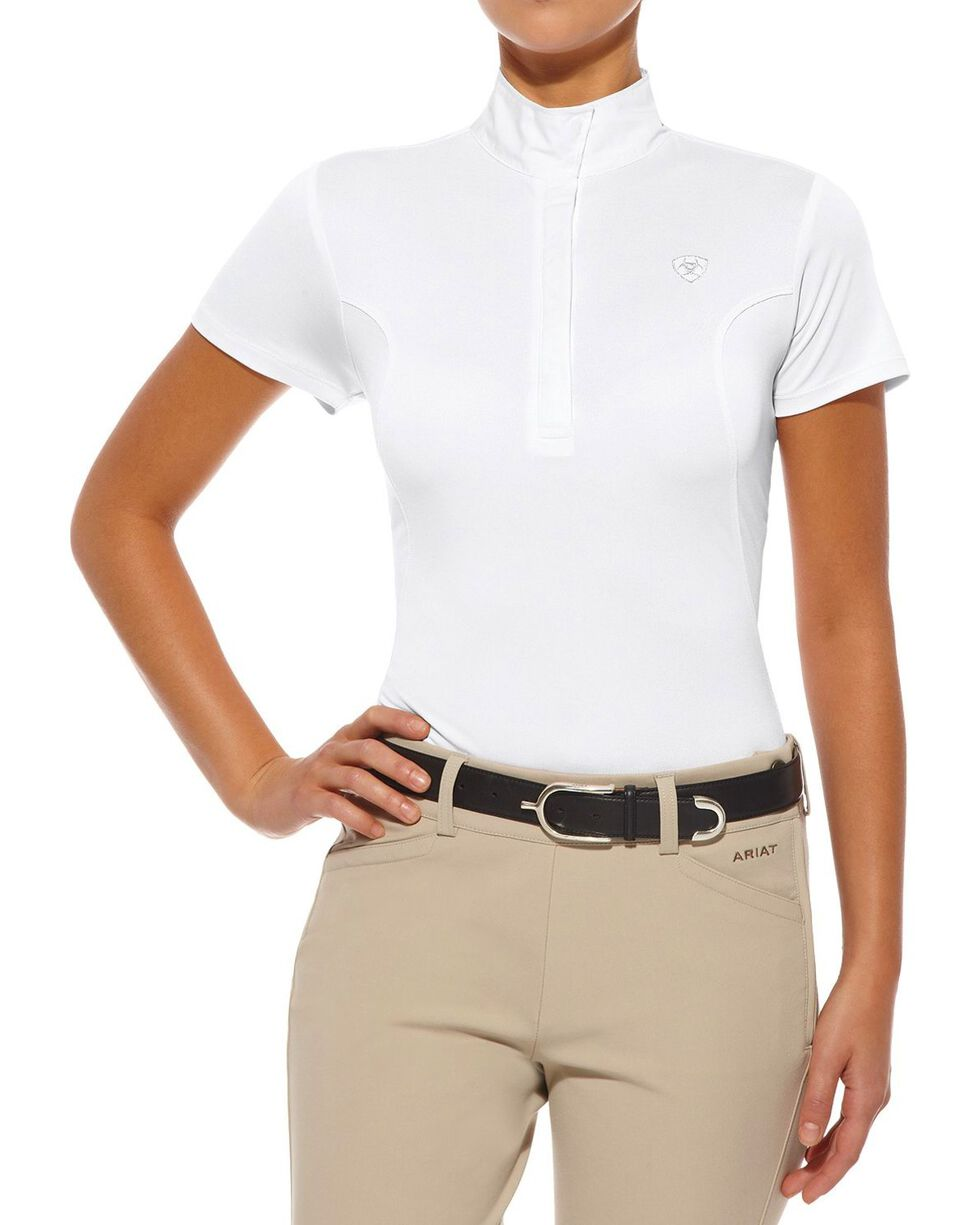 Ariat Women's Aptos Show Top, White, hi-res