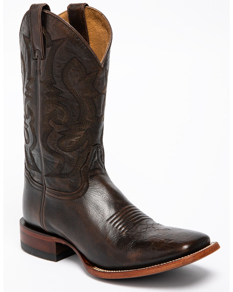 Cody James Men's Jupiter Western Boots - Wide Square Toe, Chocolate, hi-res