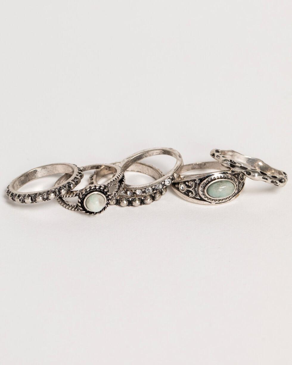 Shyanne Women's Jade Sea Multi Ring Set, Silver, hi-res