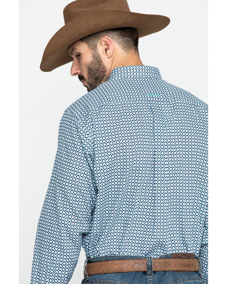 Ariat Men's Wrinkle Free Porterville Aztec Geo Print Long Sleeve Western Shirt - Big , White, hi-res