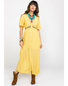 e524af7628e99 Flying Tomato Women s Embroidered Button Down Maxi Dress
