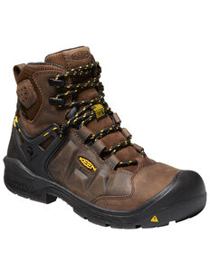 Keen Men's Dover Waterproof Work Boots - Composite Toe, Brown, hi-res