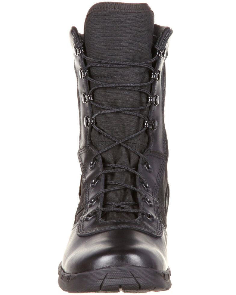 Rocky Men's C7 Zipper Waterproof Duty Boots - Round Toe, Black, hi-res