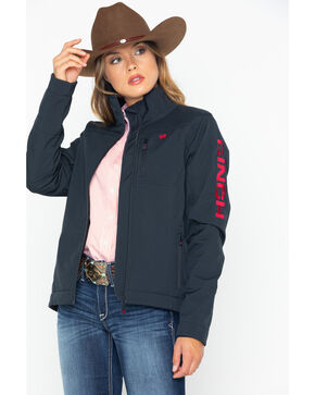 Cinch Women's Western Softshell Jacket , Black, hi-res
