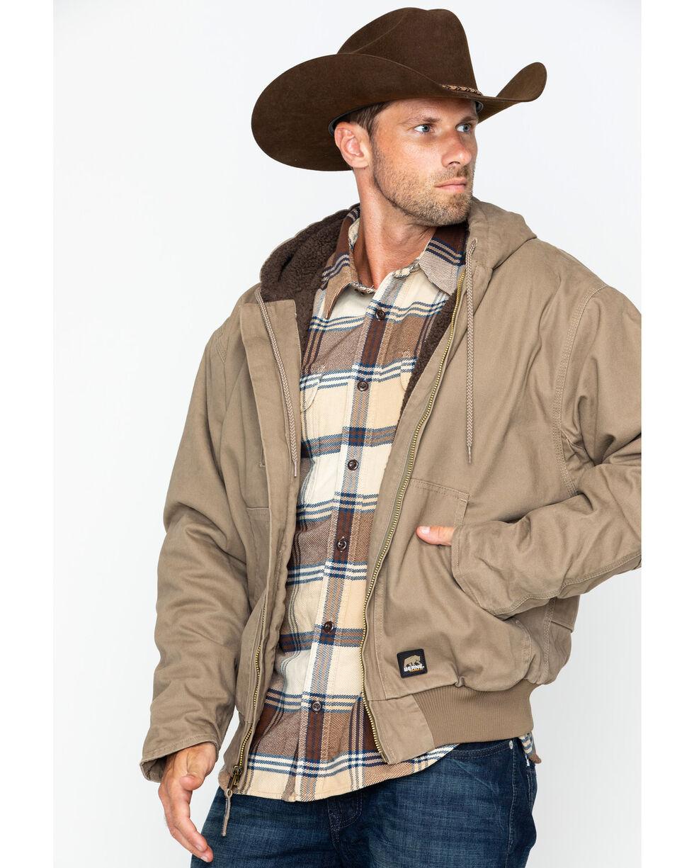 Berne Men's Flex 180 Washed Hooded Work Jacket , Sand, hi-res