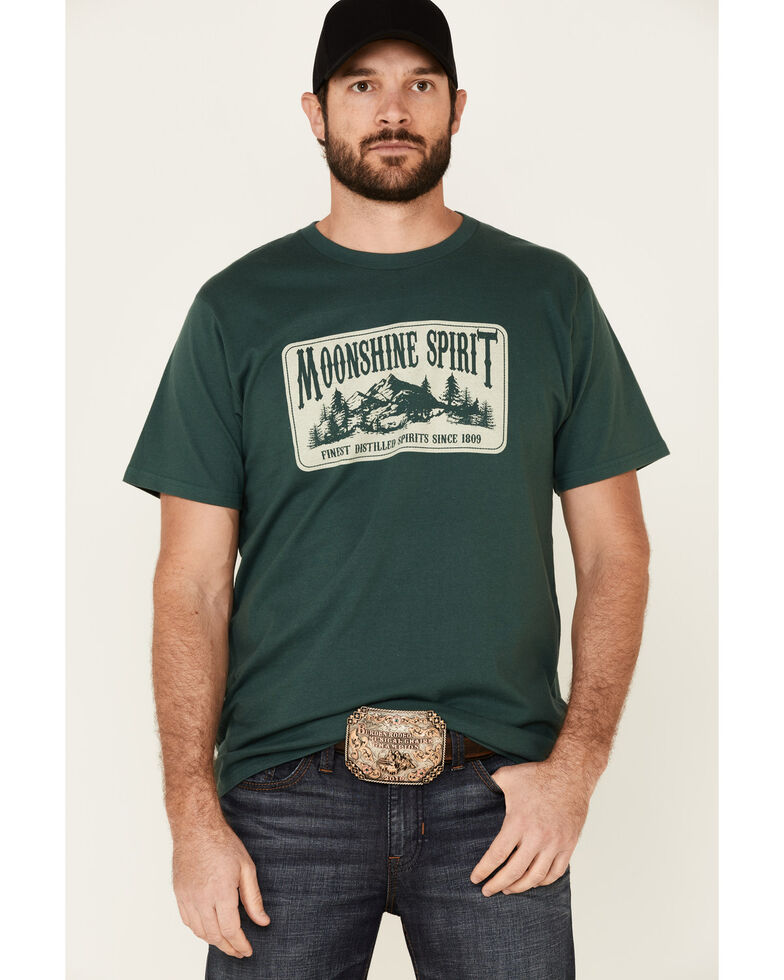 Moonshine Spirit Men's Mountain Man Graphic Short Sleeve T-Shirt , Green, hi-res
