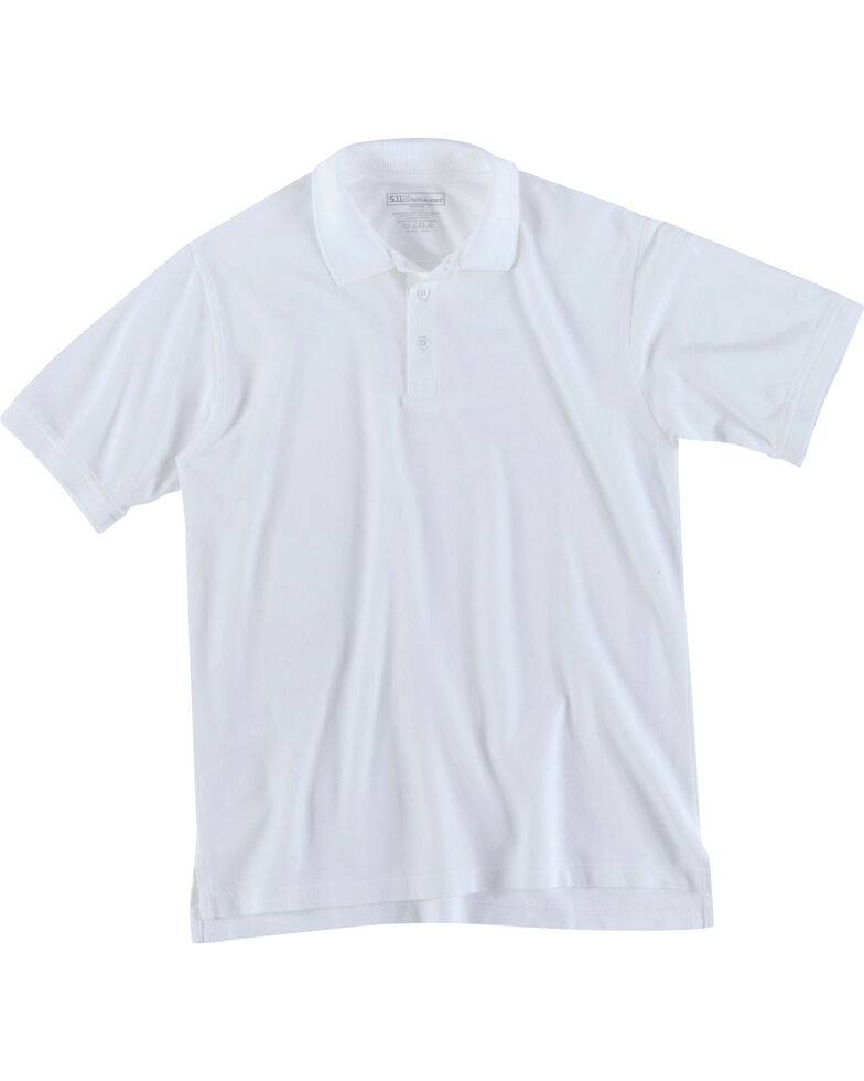 5.11 Tactical Utility Short Sleeve Polo Shirt, White, hi-res