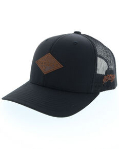 a0789d5b65a HOOey Men s Graphite Habitat Leather Patch Ball Cap