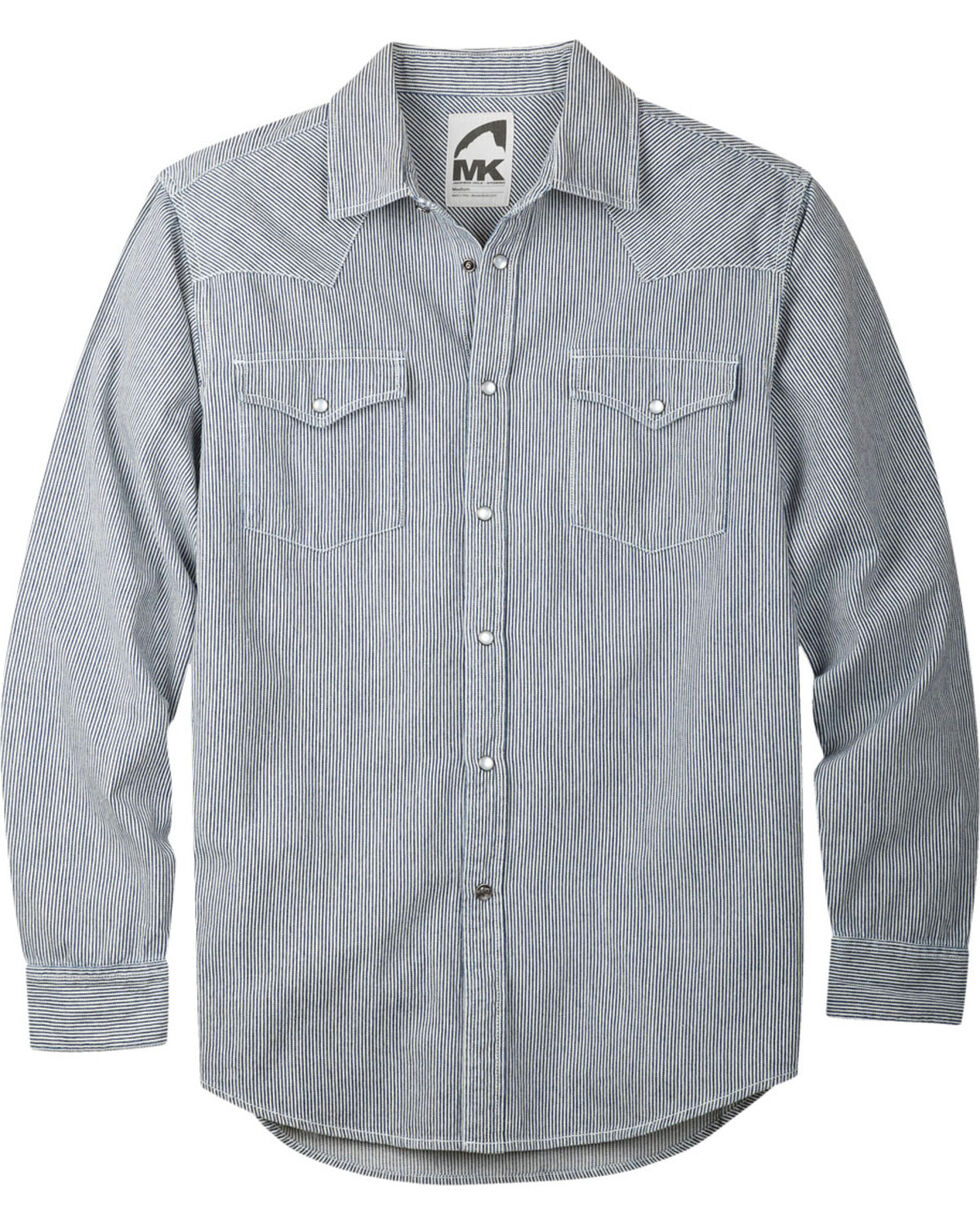Mountain Khakis Men's Long Sleeve Original Mountain Shirt, Grey, hi-res