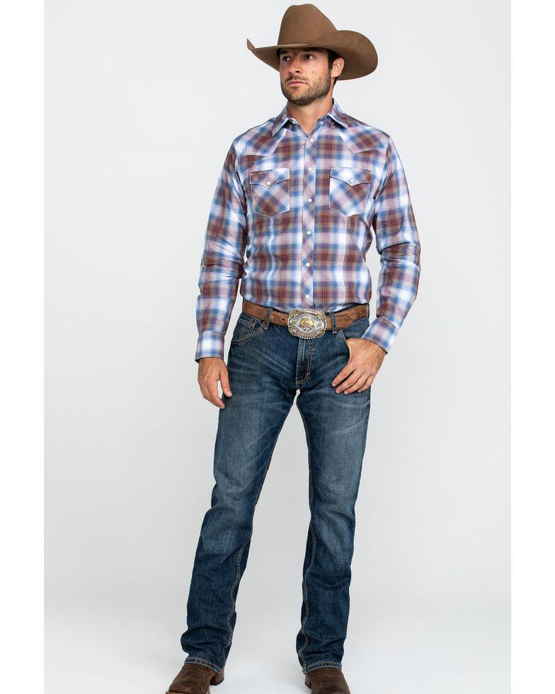 Wrangler Retro Men's Ombre Large Plaid Long Sleeve Western Shirt , , hi-res
