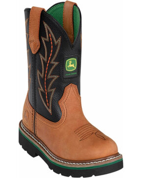 John Deere® Children's Wellington Boots, Tan, hi-res