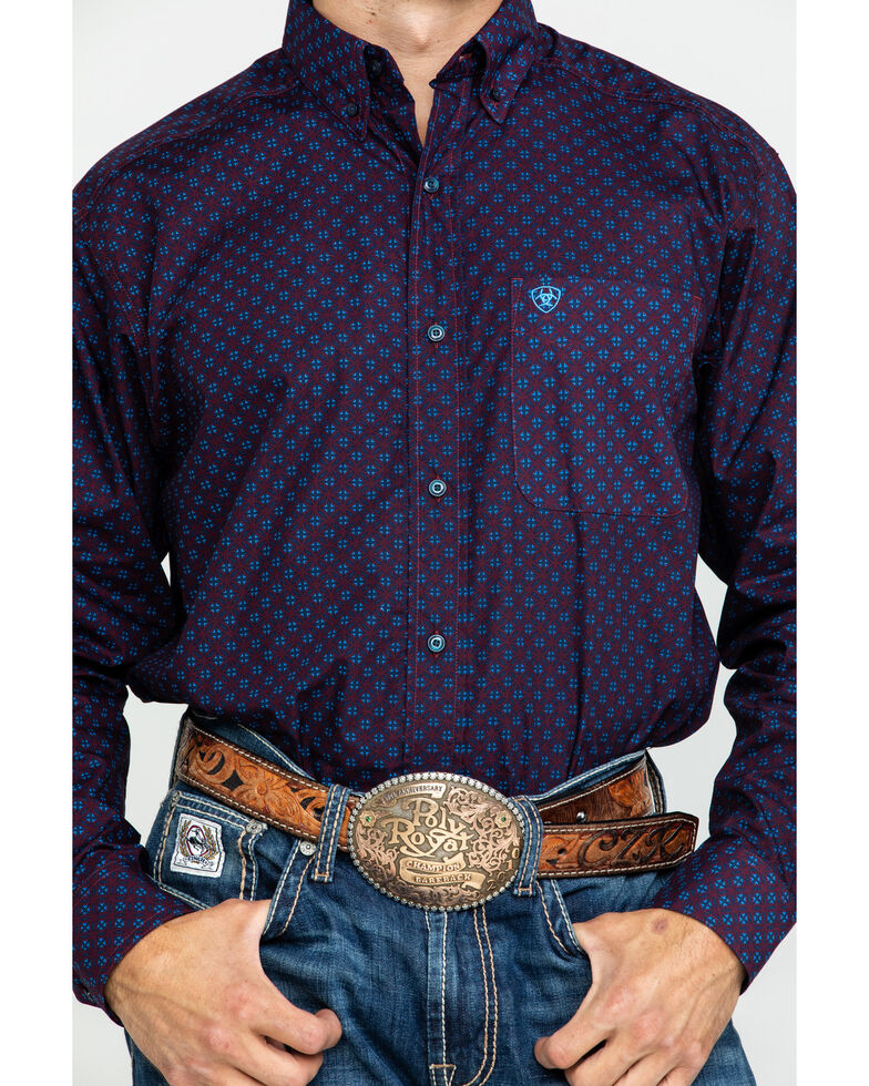 Ariat Men's Tankson Geo Print Long Sleeve Western Shirt - Tall , Multi, hi-res