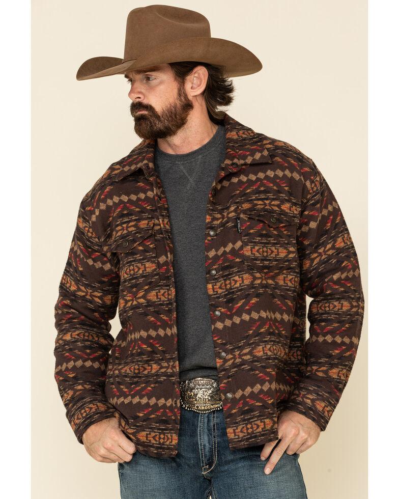 Outback Trading Co. Men's Brown Aztec Outland Shirt Jacket , Brown, hi-res