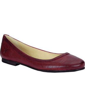 Frye Women's Carson Ballet Flats, Red, hi-res
