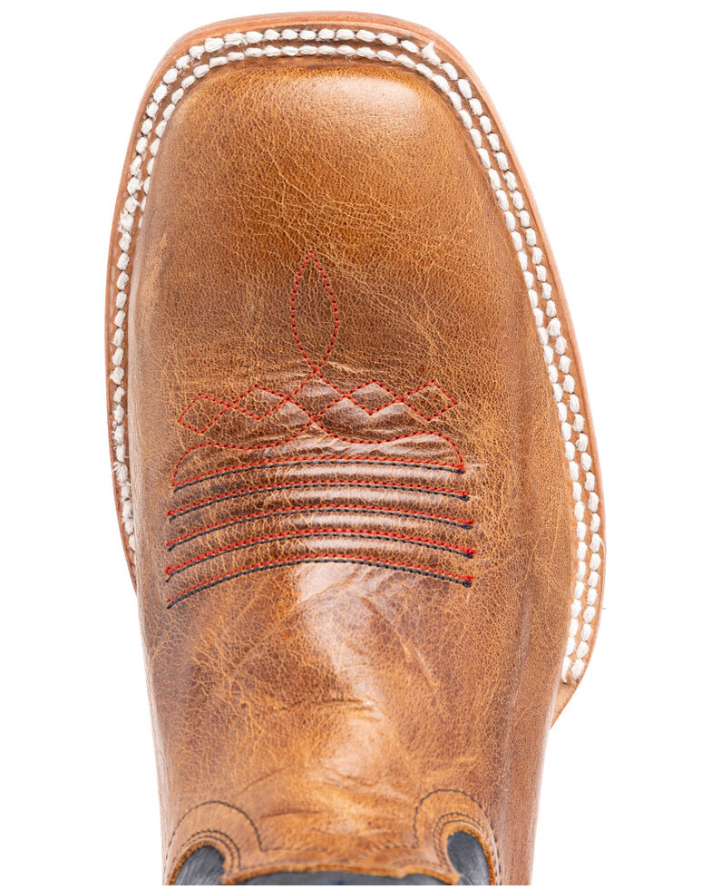 Cody James Men's Lexington Western Boots - Wide Square Toe, Red/white/blue, hi-res