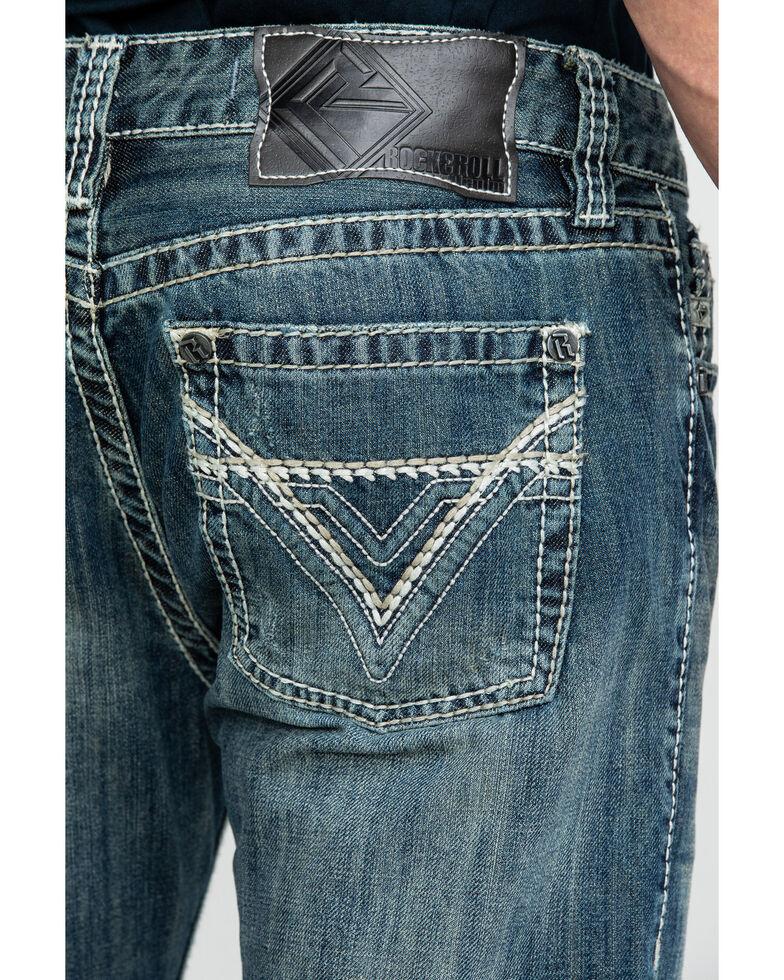 Rock & Roll Cowboy Men's Pistol Med Slim Bootcut Jeans , Blue, hi-res