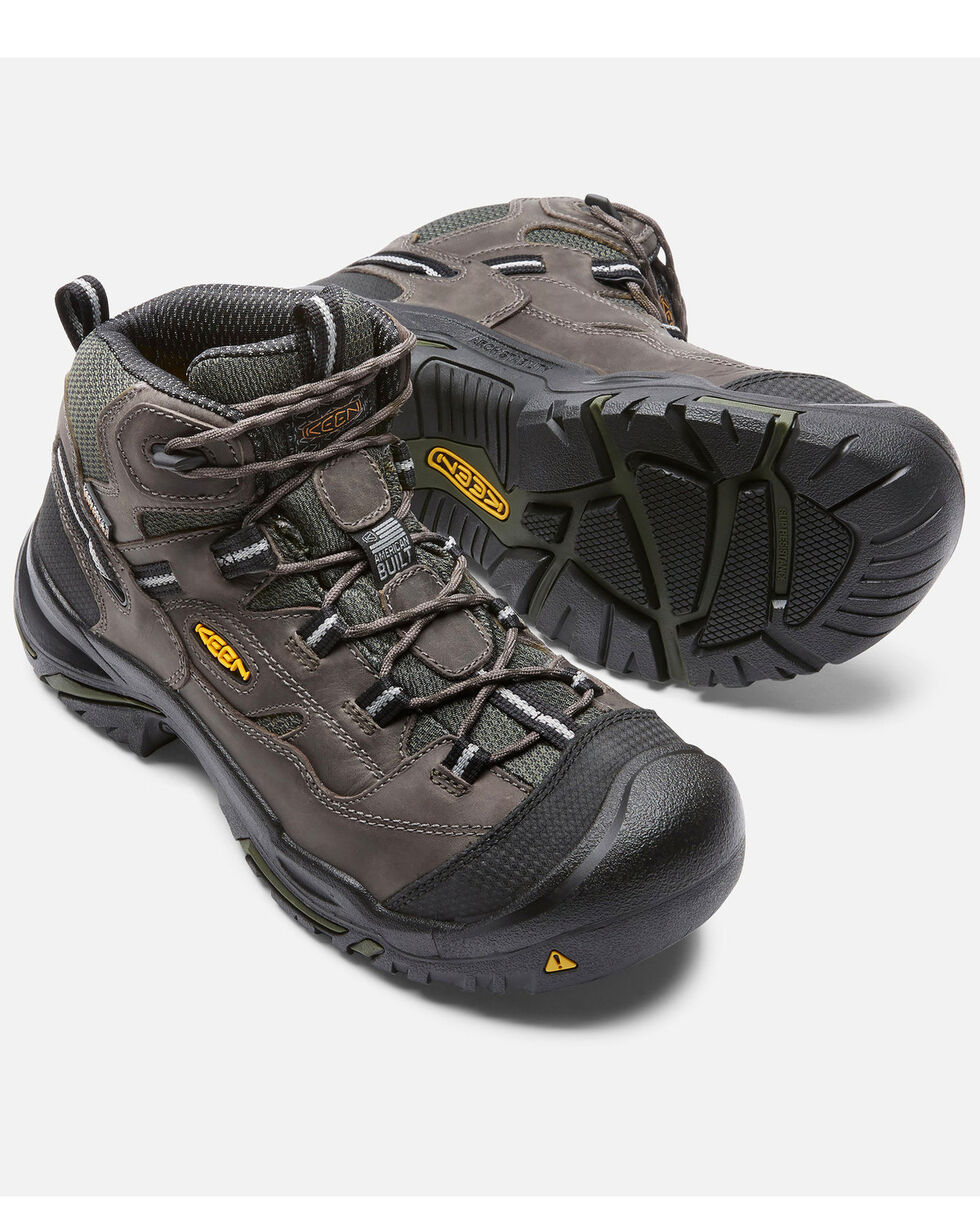 Keen Men's Braddock Waterproof Work Boots - Steel Toe, Forest Green, hi-res