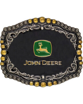 Montana Silversmiths John Deere Medium Scalloped Attitude Belt Buckle, Multi, hi-res
