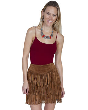 Scully Women's Suede Fringe Skirt, , hi-res