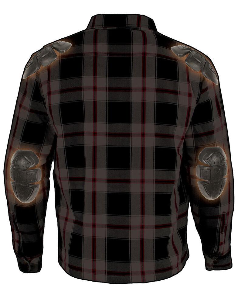 Milwaukee Performance Men's Black/White/Red Aramid Flannel Biker Jacket - 4X, Black/red, hi-res