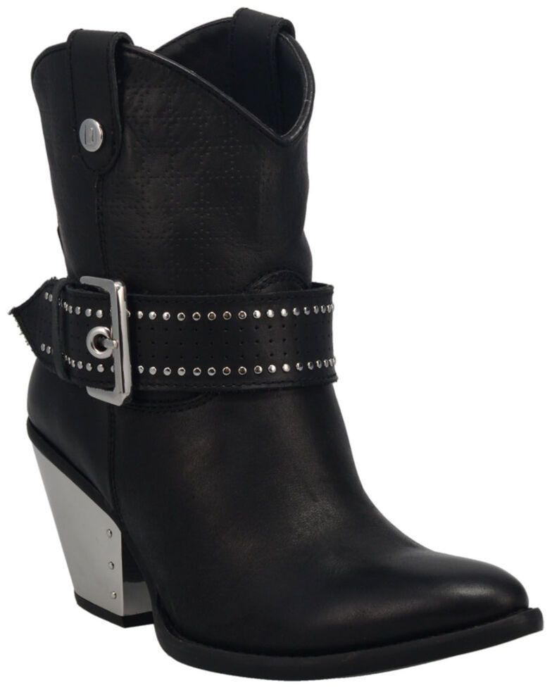 Dingo Women's Backstage Western Booties - Medium Toe, Black, hi-res