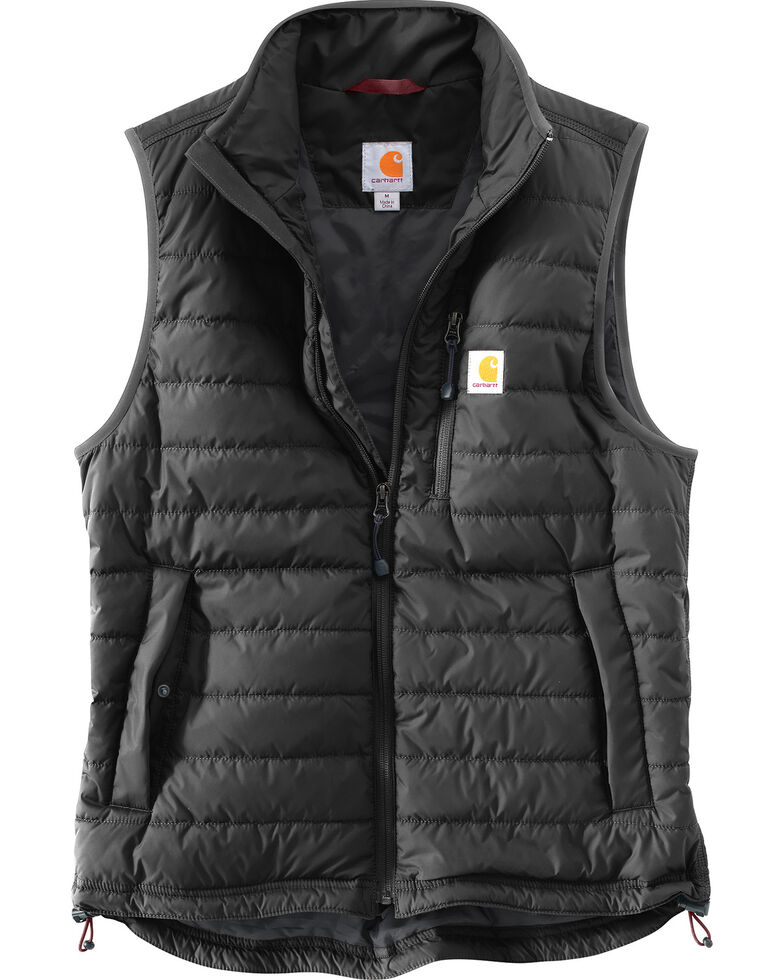 Carhartt Men's Gilliam Work Vest - Big & Tall , Black, hi-res