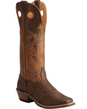 "Boulet Men's 16"" Buckaroo Wide Square Toe Boots, Chestnut, hi-res"