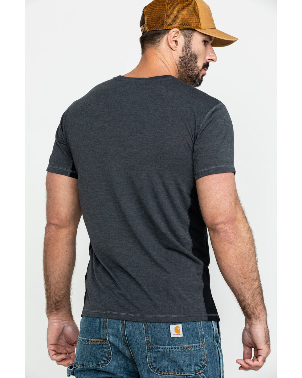 Carhartt Men's Black Heather Force Extremes Short Sleeve T-Shirt, Black, hi-res