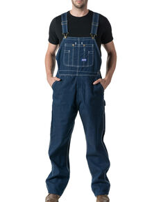 Walls Men's Big Smith Rigid Denim Bib Overalls - Big & Tall, Indigo, hi-res