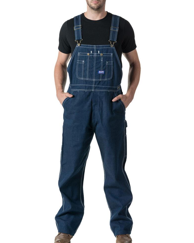 Walls Men's Big Smith Rigid Denim Bib Overalls - Big & Tall, Indigo, hi-res