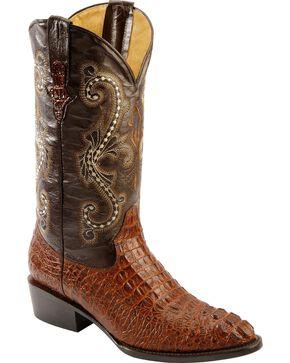 Ferrini Men's Caiman Crocodile Print Western Boots, Rust, hi-res