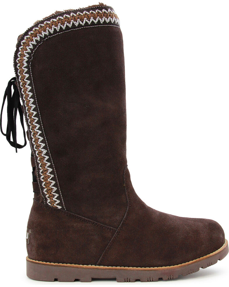Lamo Footwear Women's Madelyn Suede Winter Boots - Round Toe, Chocolate, hi-res