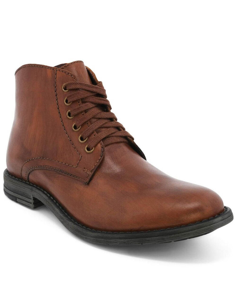 Evolutions Men's Tan Proff Lace-Up Boots - Round Toe, Tan, hi-res