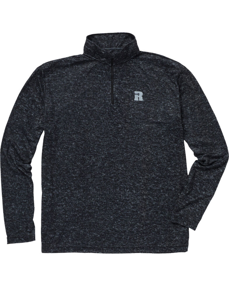 Wrangler Riggs Men's Olive Workwear 1/4 Zip Pullover Shirt - Big & Tall , Jet Black, hi-res