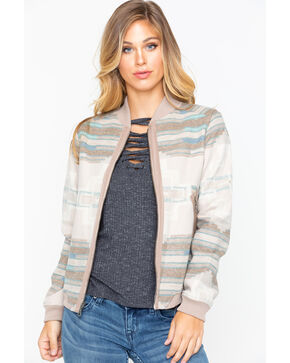 Pendleton Women's Pacific Wool Bomber Jacket , Tan, hi-res