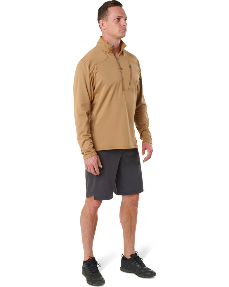 5.11 Tactical Men's Tan RECON Half - Zip Fleece Work Jacket , Tan, hi-res