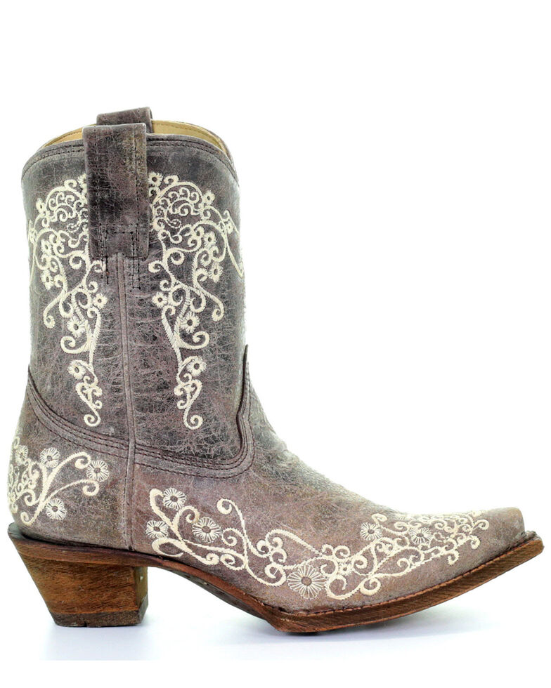 Corral Women's Embroidered Western Booties, , hi-res