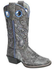 Smoky Mountain Girls' Bluegrass Western Boots - Square Toe, Black, hi-res