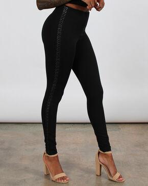 Boom Boom Jeans Women's Lace-Up Leggings, Black, hi-res