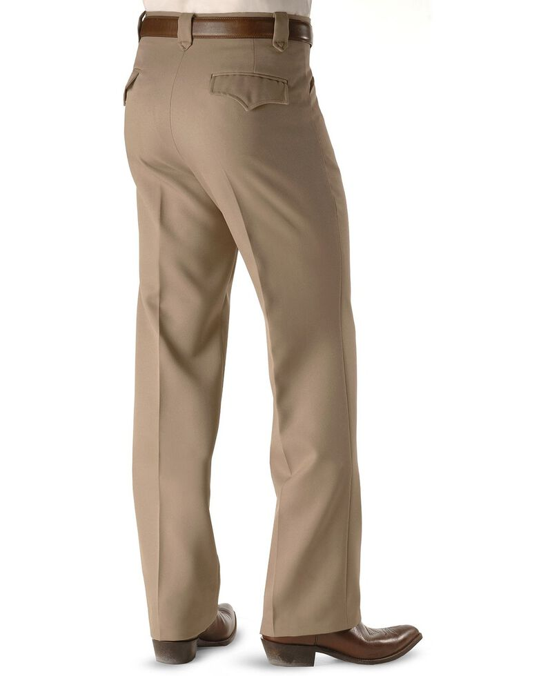 Circle S Men's Heather Ranch Dress Pants, Taupe, hi-res