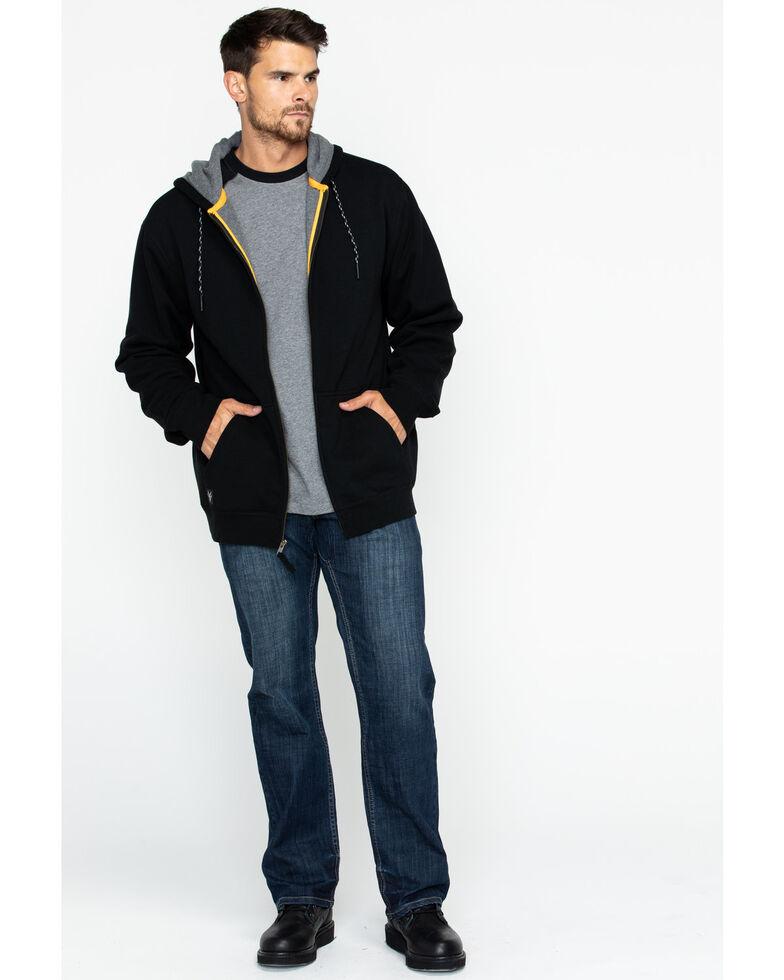 Hawx Men's Black Zip-Front Work Hooded Jacket , Black, hi-res