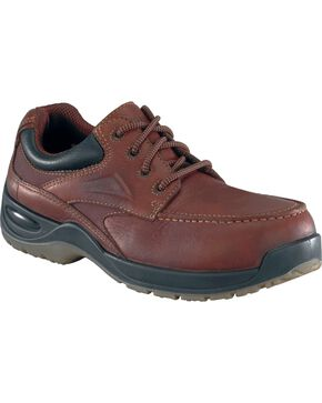 Florsheim Men's Rambler Composite Toe Lace-Up Oxford Shoes, Brown, hi-res